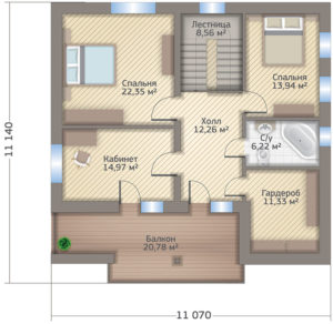 f22b737503f31f8a3d17c995a4129e80 300x292 - Проект дома №9