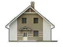 filesz500 res elewacje z62 z62 front png - Проект дома №10