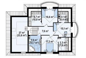 filesz500 res rzuty z18 z18 gl bk rzut2 png 300x204 - Проект дома №13
