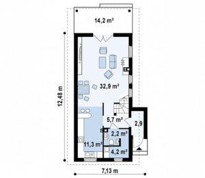 filesz500 res rzuty z25 z25 rzut1 png 300x260 - Проект дома №14