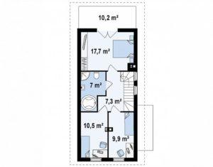 filesz500 res rzuty z25 z25 rzut2 png 300x235 - Проект дома №14