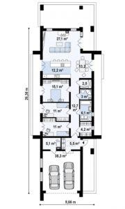 filesz500 res rzuty z330 z330 rzut1 png 180x300 - Проект дома №11
