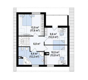 filesz500 res rzuty z62 z62 rzut2 png 300x273 - Проект дома №10