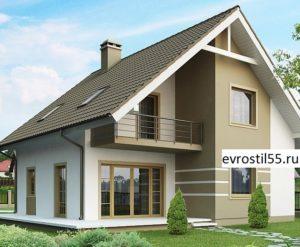 filesz500 res wizualizacje z62 z62 view1 jpg 300x247 - Проект дома №10