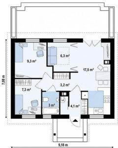 n1 6 240x300 - Проект дома №1
